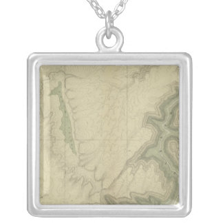 Geologic Map Of The Southern 3 Silver Plated Necklace