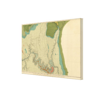 Geologic Map Showing The Kanab Canvas Print