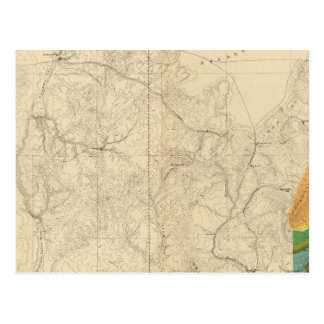 Geologic Map Showing The South Western Portion Post Card