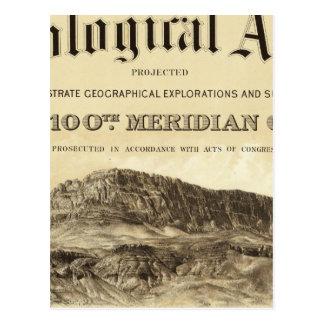 Geological Atlas Title Page Postcard