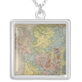 Geological France Silver Plated Necklace