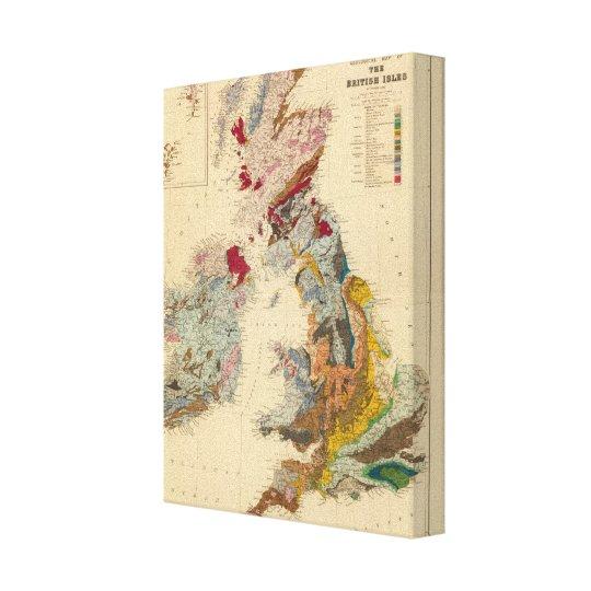 Geological map, British Isles Canvas Print
