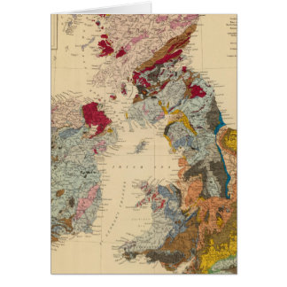 Geological map, British Isles Card