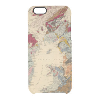 Geological map, British Isles Clear iPhone 6/6S Case