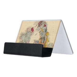 Geological map, British Isles Desk Business Card Holder