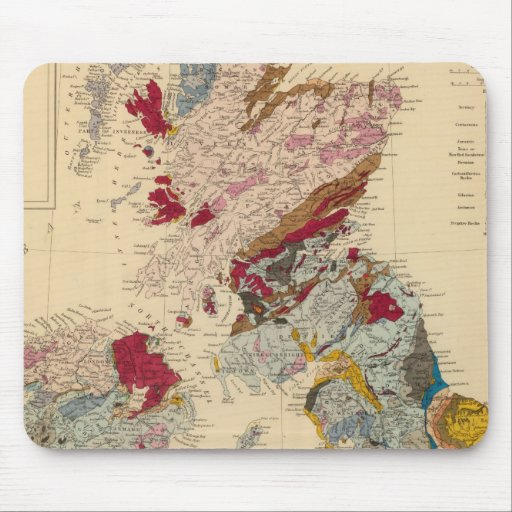 Geological map, British Isles Mouse Pads