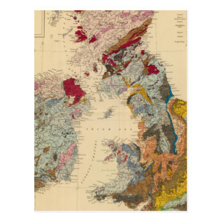 Geological map, British Isles Postcard