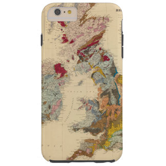 Geological map, British Isles Tough iPhone 6 Plus Case