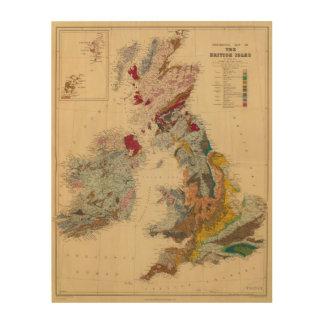 Geological map, British Isles Wood Print