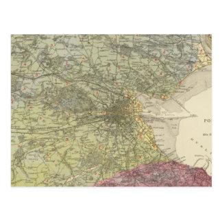 Geological map Dublin Postcard