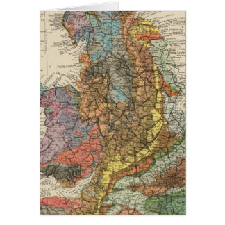 Geological map England, Wales Card
