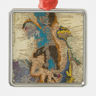 Geological map, England, Wales Christmas Ornament