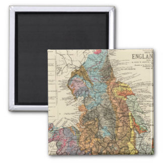 Geological map England, Wales Magnet
