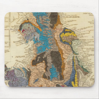 Geological map, England, Wales Mouse Pad