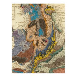 Geological map, England, Wales Postcard