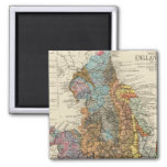 Geological map England, Wales Square Magnet