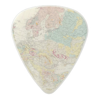 Geological map Europe Acetal Guitar Pick