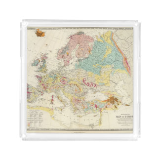 Geological map Europe Acrylic Tray