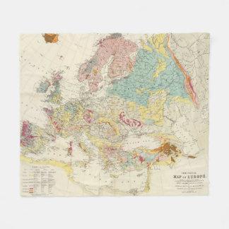 Geological map Europe Fleece Blanket