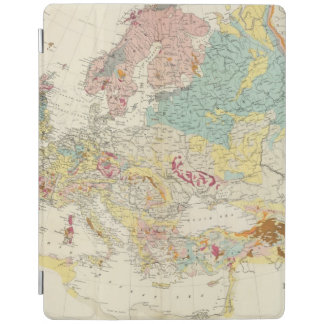 Geological map Europe iPad Cover