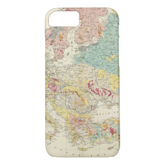 Geological map Europe iPhone 8/7 Case