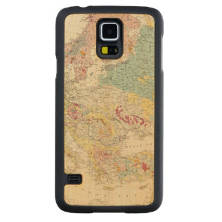 Geological map Europe Maple Galaxy S5 Slim Case