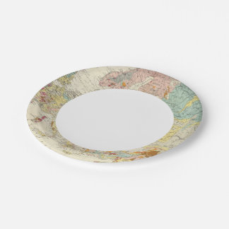 Geological map Europe Paper Plate