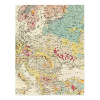 Geological map Europe Post Card