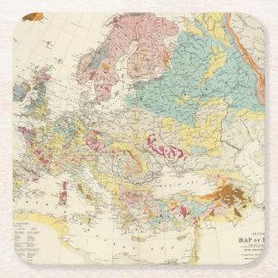 Geologic Map Of Europe.Geologic Map Drink Beverage Coasters Zazzle Uk