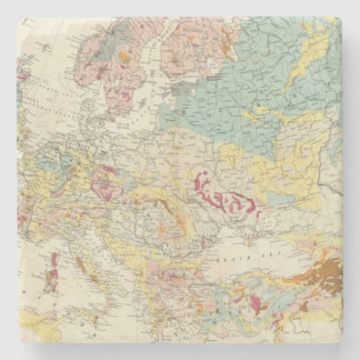 Geological map Europe Stone Coaster
