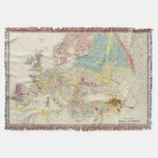 Geological map Europe Throw Blanket