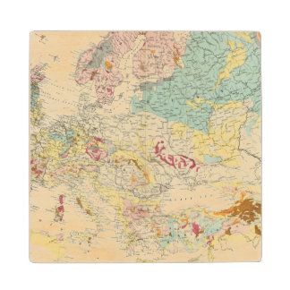 Geological map Europe Wood Coaster