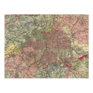 Geological map London Postcards