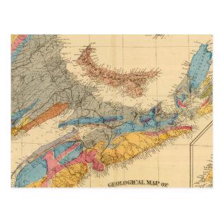 Geological map, Maritime Provinces Postcard