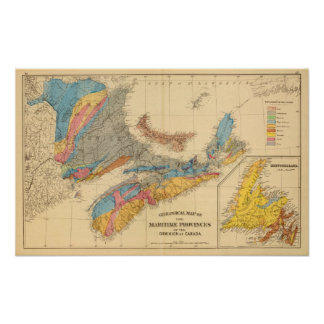 Geological map, Maritime Provinces Poster