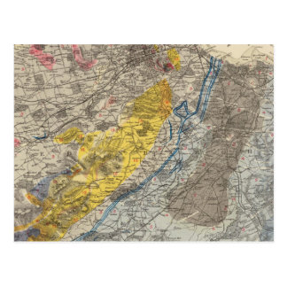 Geological map of Edinburgh Postcard