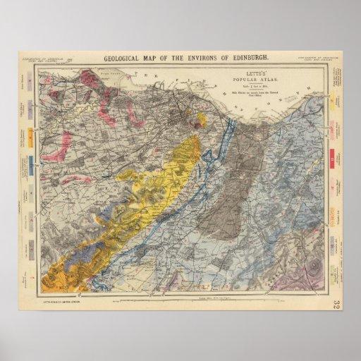 Geological map of Edinburgh Poster