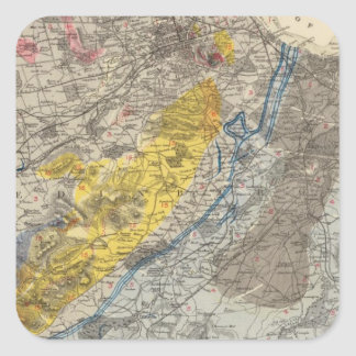 Geological map of Edinburgh Square Sticker