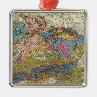 Geological map of Germany Christmas Ornament