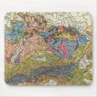 Geological map of Germany Mouse Pad