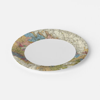 Geological map of Germany Paper Plate