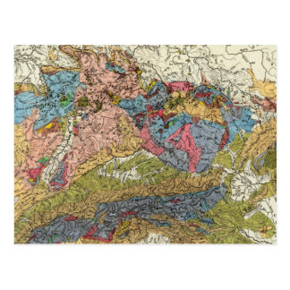 Geological map of Germany Postcard