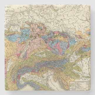 Geological map of Germany Stone Coaster