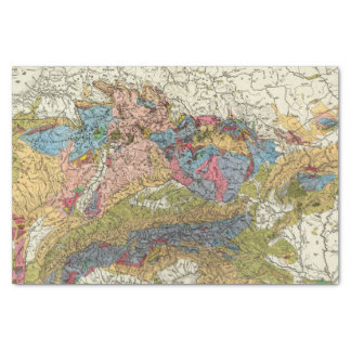 Geological map of Germany Tissue Paper