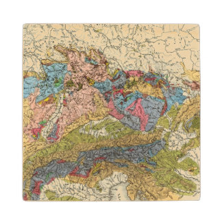 Geological map of Germany Wood Coaster