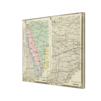 Geological map of Indiana Canvas Print
