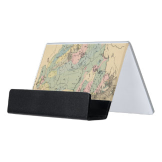 Geological map of Maine Desk Business Card Holder
