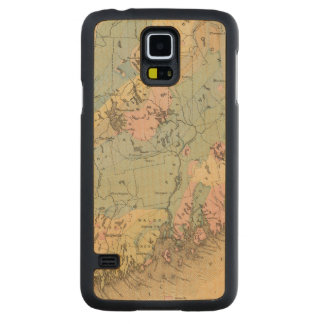 Geological map of Maine Maple Galaxy S5 Slim Case