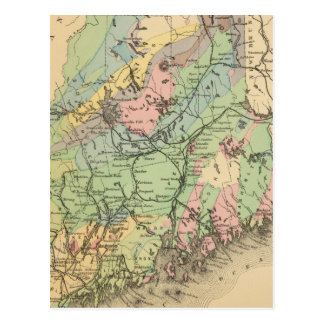 Geological map of Maine Post Card