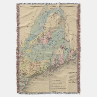 Geological map of Maine Throw Blanket